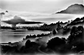 Foggy Morning on Commencment Bay